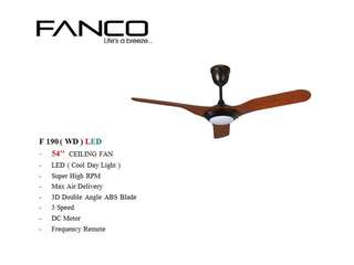 FANCO F190 CEILING FAN