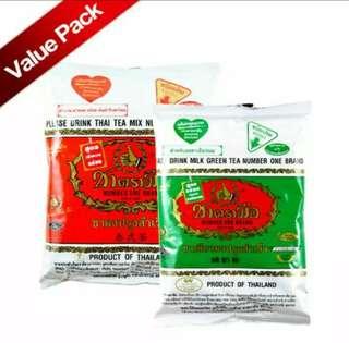 Thai Green Tea + Thai Red Tea  (Teh Hijau & Merah)