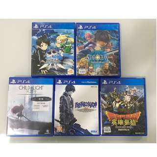 PS4 Games Chinese Version Used