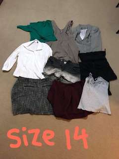 SIZE 14 WOMENS CLOTHING BUNDLE