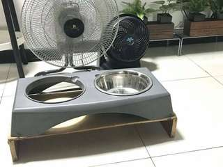 Dog pet food bowl tray stand