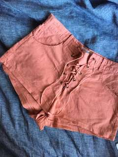 All That Remains Lace Up Shorts