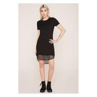 Forever 21 Mesh Hem T-shirt Dress
