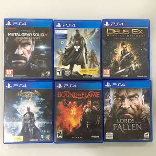 PS4 Games English Version Used