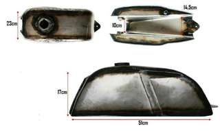 Galvanised custom Caferacer tank 1mm thickness