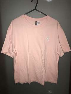 H&M Divided Pink T-Shirt with Unicorn S