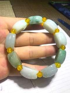 Type A Jadeite turtle shell bracelet