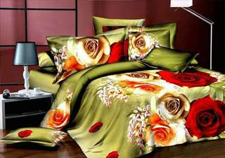 Queen Fitted Bedsheet 7in1 3D sheets