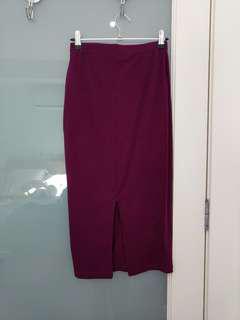 Pencil skirt maroon