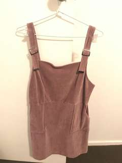 Topshop cord pinafore dress size 14 BNWT