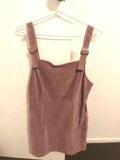 Topshop cord pinafore dress size 14 BNWT