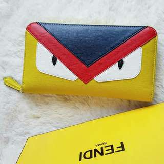 Fendi  Monster Zip Around Wallet