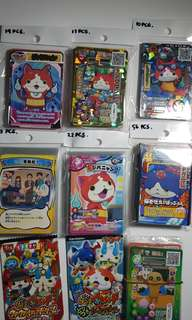 179 pcs Yokai Watch Trading Card Collectible w/Sealed Packs