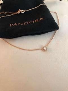Pandora rose gold necklace
