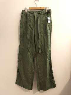 NTW Gap olive green high waisted pants