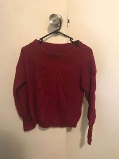 Portmans wine knit jumper size L