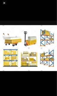 Large Warehouse and logistic management! With lorry and Forklift!
