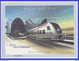 Malaysia 2002 Express Rail Link SG MS 1065 Mint