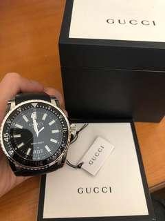 Gucci watch - GUCCI Dive Black Dial Black Rubber Men's Watch