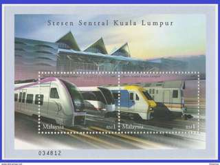 Malaysia 2002 Express Rail Link SG MS1065 Mint