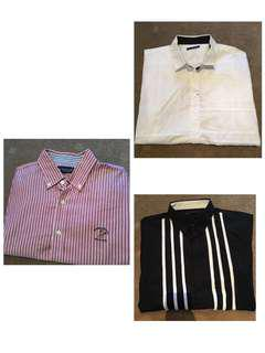 3 shirts for $20 Size L Button Up Smart Casual Polo
