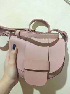 Miniso sling bag baby pink
