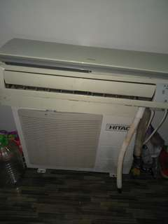 Aircond 1hp hitachi complete set