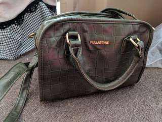 Pull & bear olive green bag