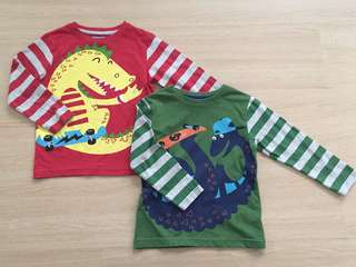Dinosaur Long Sleeve Tshirt Set