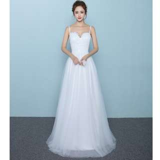 Wedding Collection - Simple but Little Sexy Sling Style A Lining Wedding Gown (ROM Choice)
