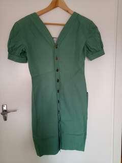 Mint green vintage FENDI dress