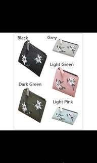 PROMO! Flower Embroidery Short Wallet!