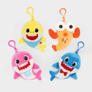 🚚 Pink Fong Baby Shark Sound Keychain Toy