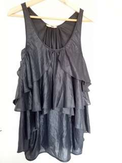 Black metallic SASS & BIDE dress/top.