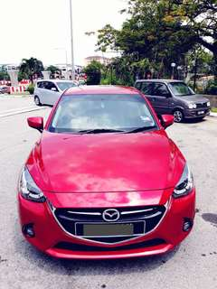 SAMBUNG BAYAR/CONTINUE LOAN  MAZDA2 SKY ACTIVE FULL SPEC TURBO YEAR 2017 MONTHLY RM 1070 BALANCE 8 YEARS ROADTAX VALID MILEAGE LOW CHRONOGRAPHIC METER PUSH START BUTTON LEATHER SEAT CONDITION NEW  DP KLIK wasap.my/60133524312/mazda2