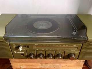 Vintage  National Vinyl Turntable