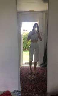 White split pants