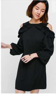 Love Bonito Sidona Ruffle Cutout Shoulder Dress BNWT