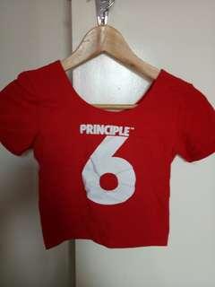 PRINCIPLE 6 red crop xxs