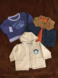 Outerwear for baby boy 6-12mos