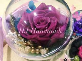 8cm Preserve Flower Crystal Ball