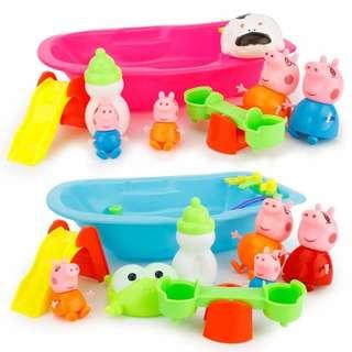 🚚 (現貨)大號佩豬洗澡盆玩具