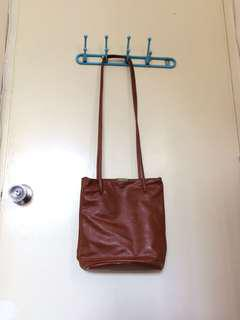 Brown Leather Small Sling Bag