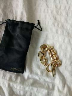 MIMCO gold bracelet never used
