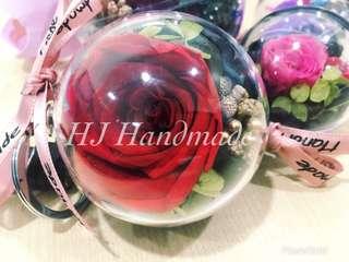 6cm Preserve Flower Crystal Ball