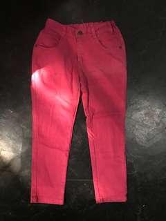 Jeans pink 6 tahun