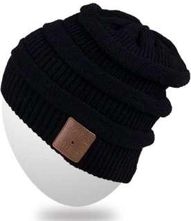 (465) ROTIBOX Bluetooth Beanie Hat (A-BB021-Black