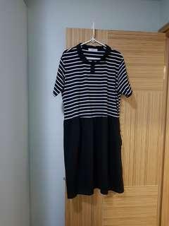 韓國新款棉質 雪紡連身裙