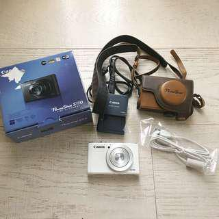 Canon Powershot S110 Digital Camera in White