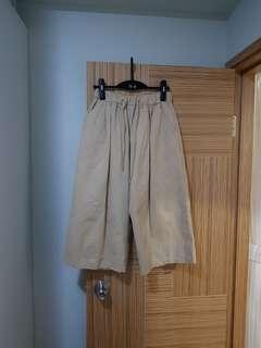 韓國新款 七分闊腳褲